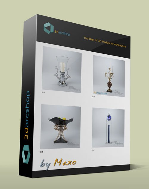 3darcshop: Decorations 1-100 Models for 3ds Max
