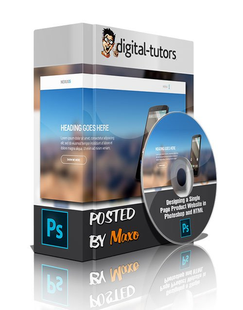 Designing a Single Page Product Website in Photoshop and HTML