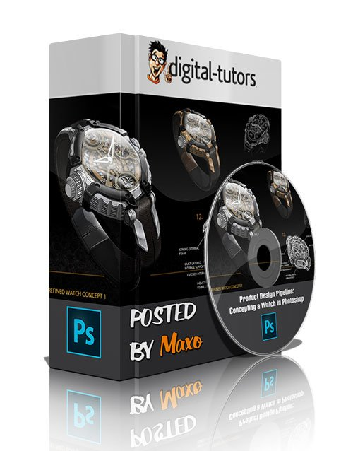 Digital Tutors - Product Design Pipeline: Concepting a Watch in Photoshop