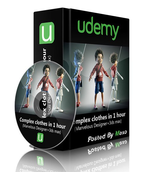 Udemy - Complex clothes in 1 hour (Marvelous Designer+3ds max)