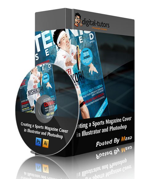Creating a Sports Magazine Cover in Illustrator and Photoshop