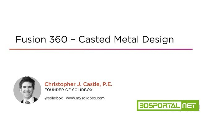 Fusion 360 - Casted Metal Design