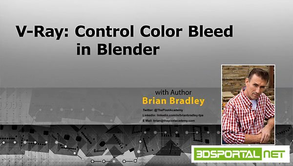 V-Ray: Control Color Bleed in Blender