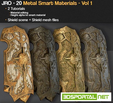 Gumroad - 20 Metal smart materials - Vol 1