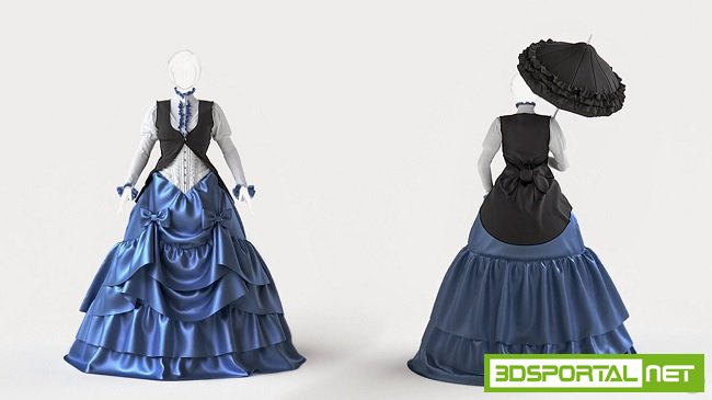 Creating a Victorian Style Gown with Marvelous Designer