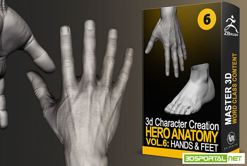 Cubebrush - Hero Anatomy En Vol.6 Hands and Feet