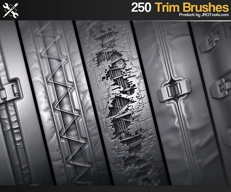 ArtStation Marketplace – ZBrush – 250 SF Trim Brushes Vol.1