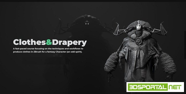 ZBrushguides - ZBrush Clothes and Drapery course