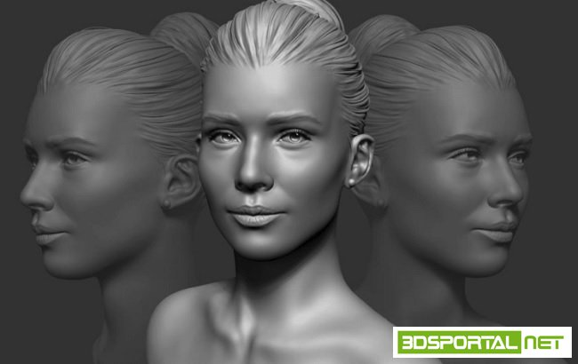 Flippednormals – Sculpting a Realistic Female Face in Zbrush